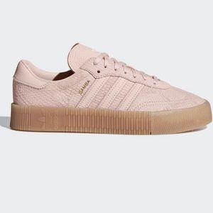 NEW! Adidas Sambarose Icy Pink Snakeskin Size 10